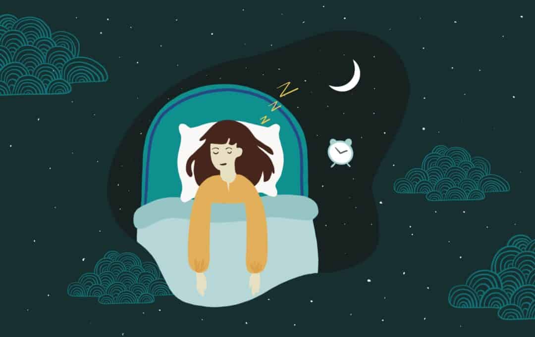 Hypersomnia causes and symptoms. Illustration